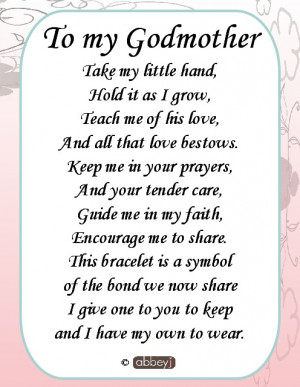 Godmother Poems From Godchild