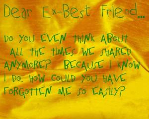 Dear Ex-Boyfriend…