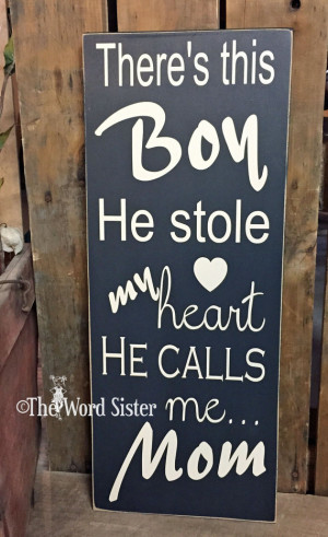 Sentimental Son Saying, There's This Boy He Stole My Heart He Calls Me ...
