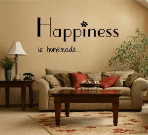 Happiness is Home Made Quote Vinyl Wall Art Sticker Decal Mural