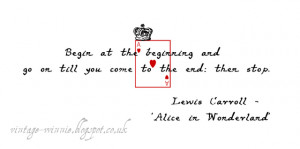 Alice in Wonderland Quote' - Lewis Carroll