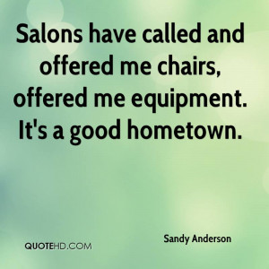 Sandy Anderson Quotes