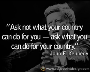 John F. Kennedy Famous Quote