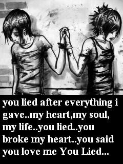 Broken quote Wallpaper 240x320 broken, dark, emo, love,