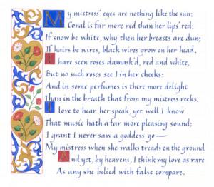 ... YouTube clip! AlanRickman 's voice reciting Sonnet 130 is amazing