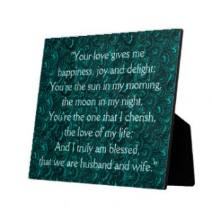 True Love Quote Husband Wife Wedding Plaque