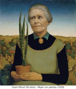 Grant Wood Mujer Con...