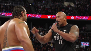 The Rock made a surprise return to WWE Raw on Monday night to confront ...