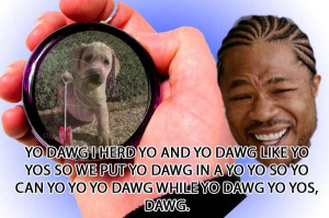 yo dawg i herd yo and yo dawg like yo yos so we put yo dawg in a yo yo ...