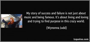 story of success and failure is not just about music and being famous ...