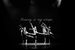 ... , beautiful, black and white, dance, dancing, escape, modern, quote