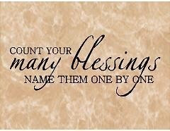 VINYL QUOTE- Count Your Many Blessings-special buy any 2 quotes and ...