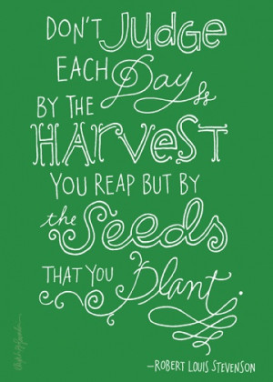 plant seeds every day.
