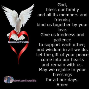 GOD, Bless our Family