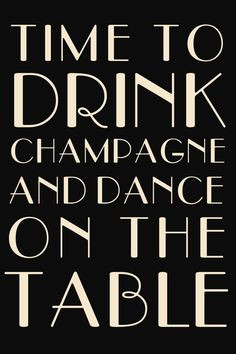 Drink Champagne 24x36 by modernsoiree on Etsy, $5.00