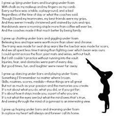 ... poem for every gymnast. #onceagymnast #alwaysagymnast #gymnastics #
