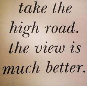High road.