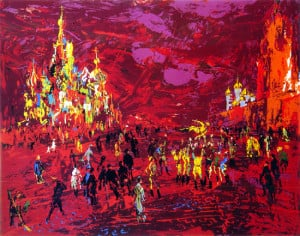 LeRoy Neiman Serigraph Value Red Square