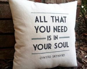 ... ! Simple Man- Lynyrd Skynyrd, Customizable double sided lyric pillow