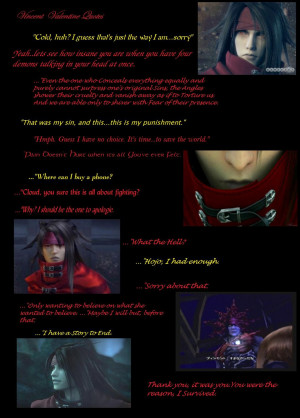Vincent Valentine Quotes by