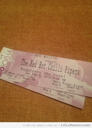 Funny Memes My friend paid $228 for two Red Hot Chili Peppers tickets ...