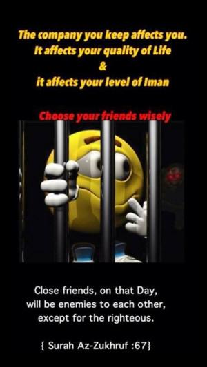 Choose friends wisely islamic verse