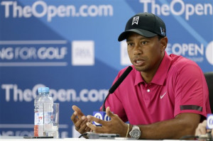 Tiger Woods at the Open Championship press conference earlier today