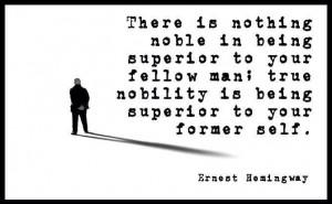 Hemingway Quote. Love this