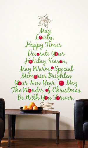 Christmas Tree Quotes Wall Sticker, 2013 Christmas Tree Quotes ...