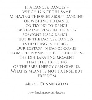 Merce Cunningham on Dance