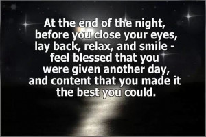 At the end of the night...