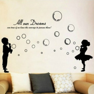 ... film Blowing bubbles Wall Stickers Decals Wallpaper Decoration