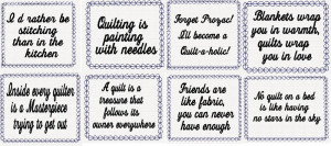 QUILTERS QUOTES