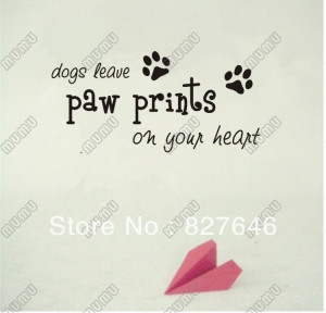... paw-prints-on-your-heart-cute-puppy-wall-art-wall-sayings-quotes--Home