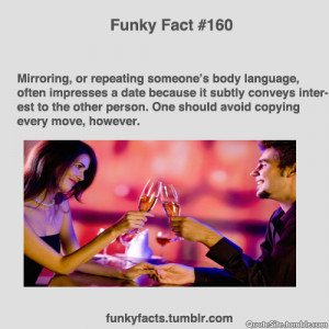 ... , Or Repeating Someone's Body Language, Often Impresses A
