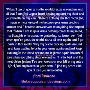 Find Peace In Your Arms..