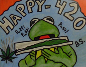 Happy 420 Kermit the Frog by sampson1721