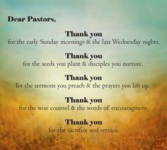 ... to your pastor recently more appreciation dinner pastor appreciation