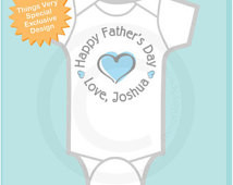 Happy Father's Day Onesie, New Dad Gift, Personalized Fathers Day ...