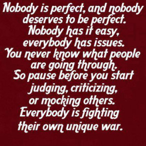 Do Not Judge And Criticize Others Quote