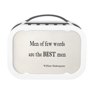Shakespeare Quote Best Men of Few Words Quotes Yubo Lunch Boxes