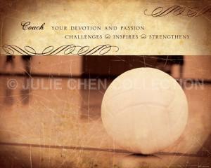 Volleyball Coach Inspirational Art Keepsake 8x10 Fine Art Print Family ...