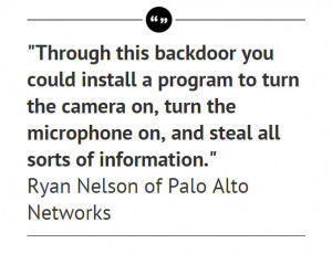 """The backdoor, we know it was made by Coolpad,"""" said Ryan Olson ..."""