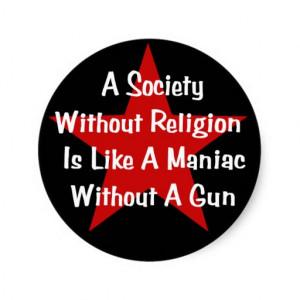 Anti-Religion Quote Stickers