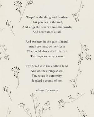 Emily Dickinson Winter Flowers