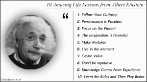 ... the eccentric wisdom of Albert Einstein and found this quote one day