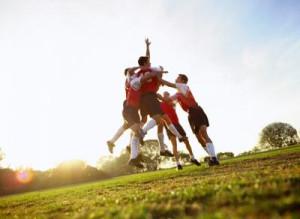 Soccer team celebrates(Chad Baker/Jason Reed/Ryan McVay/Photodisc ...