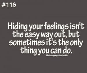 Quotes About Hiding Your Feelings