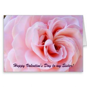 Happy Valentine's Day Card Sister