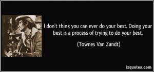Townes Van Zandt Quote